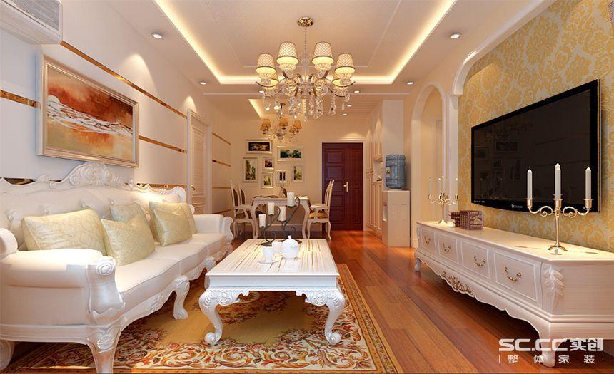 小资 客厅图片来自实创装饰百灵在大厂英国宫 60平米欧式风格装修的