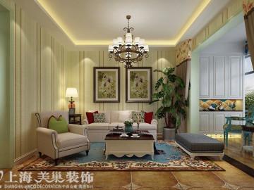 盛润锦绣城83平美式乡村装修案例