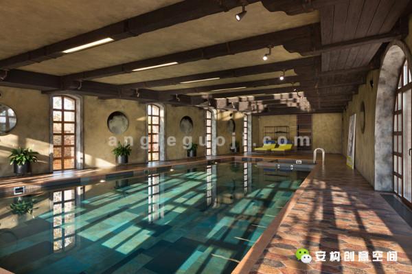 游泳池里的设计也是别有用心的。