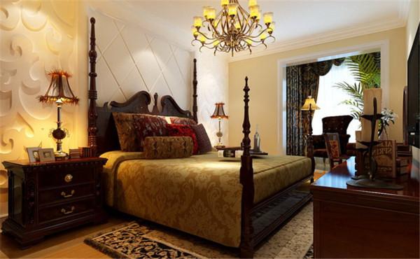 主卧室用浅色的墙漆营造一种温馨的感觉,地板是整个空间色彩最重的区域,为整个空间增加了立体感。 整个设计围绕清新自然为主题。