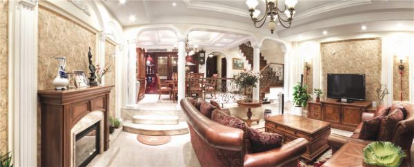 大华锦绣250平别墅户型装修欧式风格完工案例实景展示,上海聚通装潢腾龙设计周峻最新作品,欢迎品鉴!