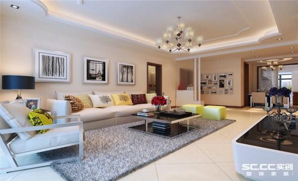 客厅设计: 现代风格的装饰装修设计以自然流畅的空间感为主题,简洁、实用为原则,使人与空间享尽浑然天成的契合惊喜!