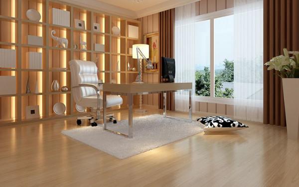 隔断式书房设计,增加了整体空间的利用率,空间色泽统一,使得空间十分完美