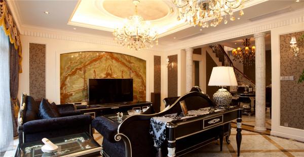 别墅装修欧式风格完工案例实景展示-上海聚通装潢
