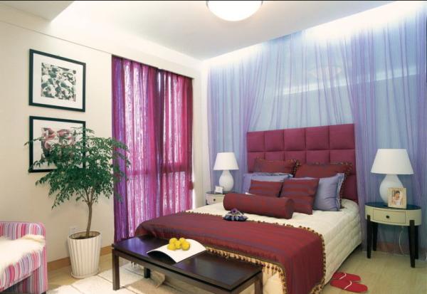 红色的女孩房,粉嫩嫩的色调配上浪漫的罗纱窗帘,打造唯美公主风。
