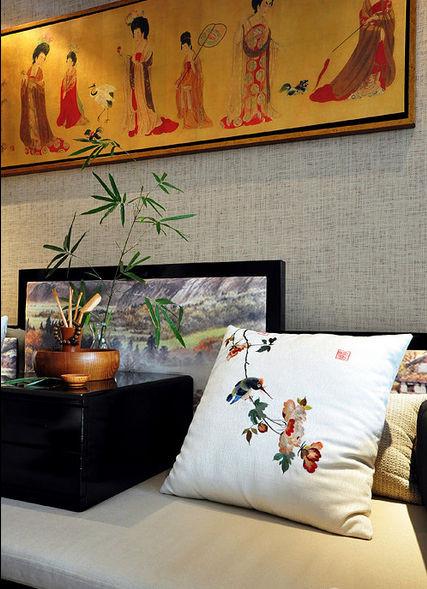 抱枕,茶具,竹