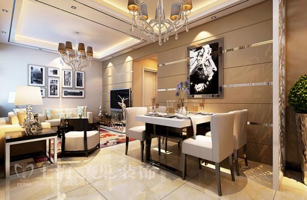 郑州九龙城85平两室两厅现代简约风格装修样板间-餐厅效果图