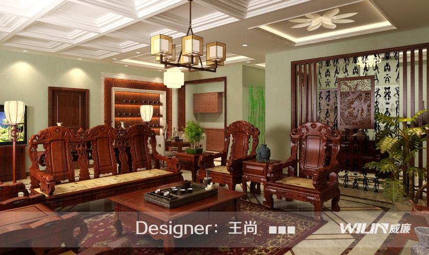 青岛装修 装修公司 威廉装饰 装修效果图 客厅图片来自青岛威廉装饰在华侨城2期的分享