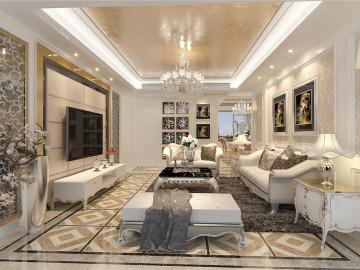 静安晶华园三居室装修欧式风格