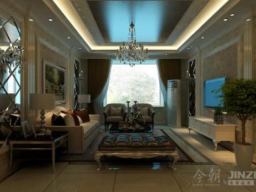 【案例欣赏】三室简欧风格效果图