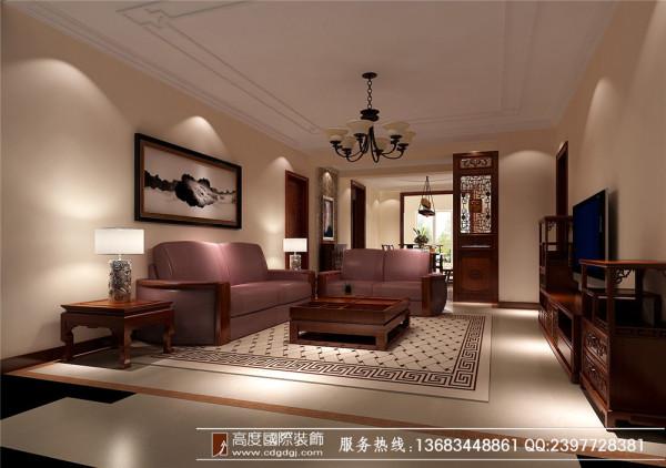 成都高度国际装饰设计—中粮祥云—客厅