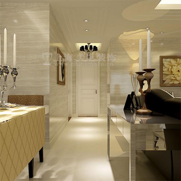 逸品香山134平三室两厅现代简约装修效果图案例——入户走廊