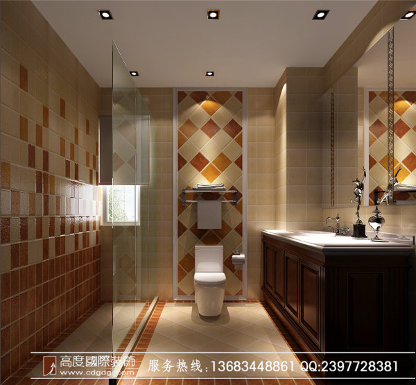 成都高度国际装饰设计—中粮祥云—卫生间