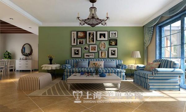 升龙城136平3室2厅地中海风格装修效果图--沙发背景墙