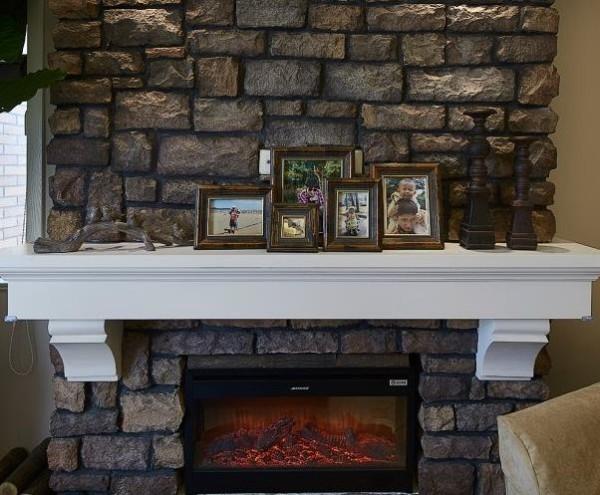 客厅砖石造型墙面