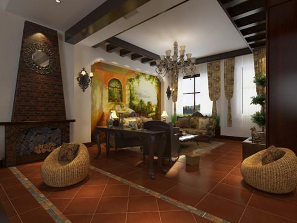 沙发背景墙造型以及电视墙的设计会使得空间不单调有特色,大量运用木饰面和艺术品装饰,显得更加大气。