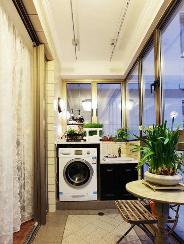 洗衣机卫生间阳台装修效果图片_装修美图-新浪装修网