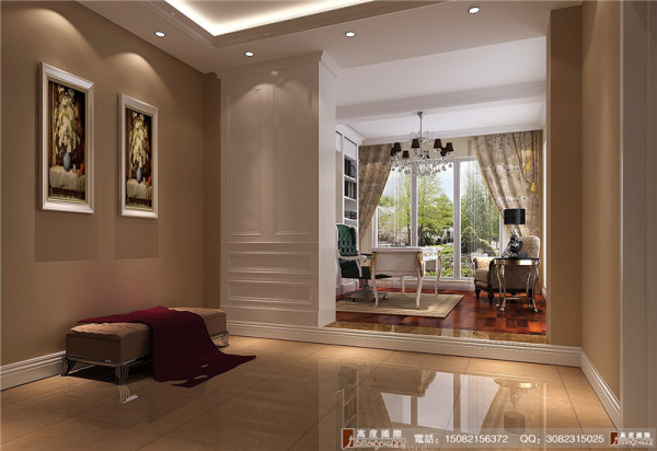 龙湖世纪峰景装修-门厅效果图-高度国际装饰