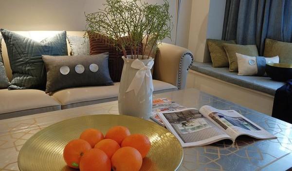 客厅桌面装饰细节