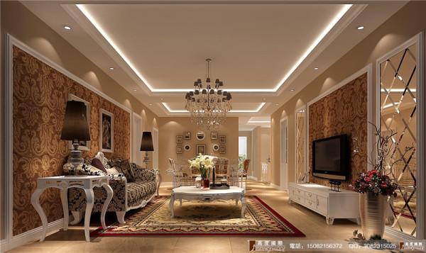龙湖世纪峰景装修-客厅效果图-高度国际装饰