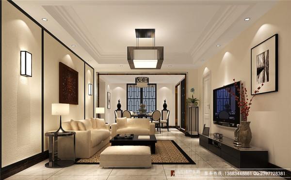 中环岛142㎡装修—成都高度国际—客厅细节效果图