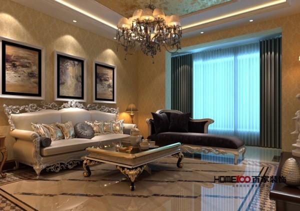 本案例是一套225平米三居室空间,设计师以传统欧式装修风格设计的元素,凸显了出欧式风格的奢华。奢华欧式风格给人的第一印象是大气,以金黄色为主色调的欧式家居,尽显豪华富丽。