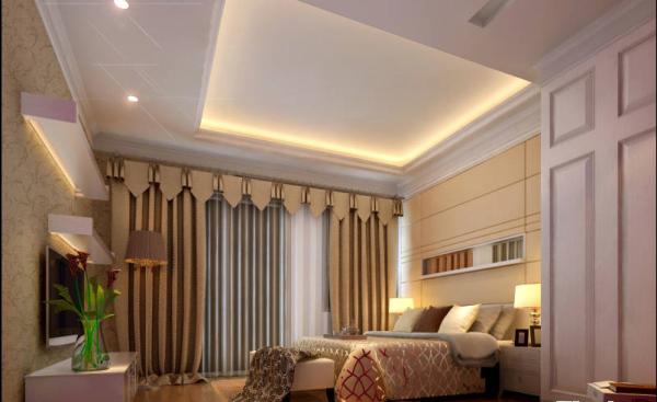 相比之下,卧室的设计反而趋于平常。
