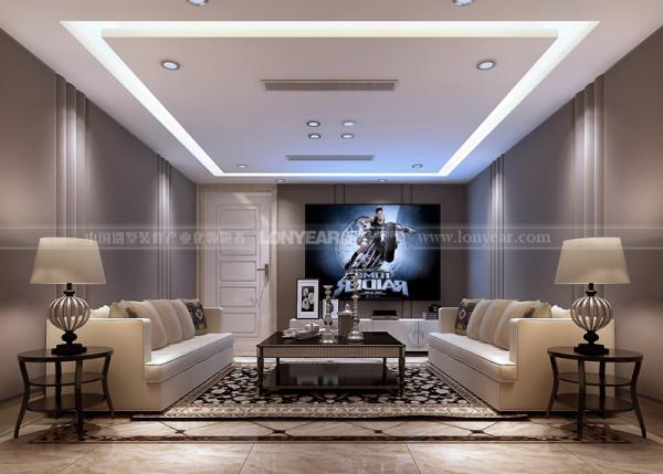 地下室会客厅整个设计底色采用白的、淡色为主,家具则是白色和深色的搭配,彰显出典雅、自然、高贵的气质、浪漫的情调。配饰的选择要以有一点造型、有一点朴拙为主。