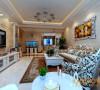 银滩雅苑137㎡欧式风格设计案例