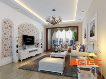 128平三居装修打造现代欧式风格