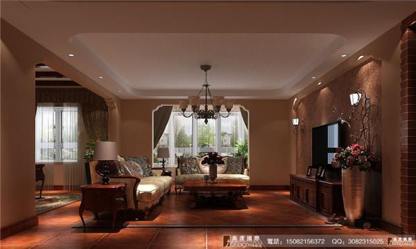 南湖国际装修客厅细节效果图----高度国际装饰