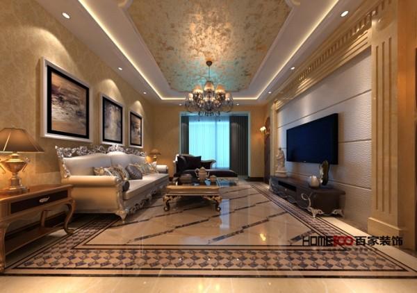 磅礴大气的类型,无论是华丽的地砖,还是奢华的欧式家具,都让整个客厅呈现奢华的欧式风,而整个布置精妙,将各种家具, 装饰物巧妙的融合在一起,把这种奢华的面貌呈现给人们。
