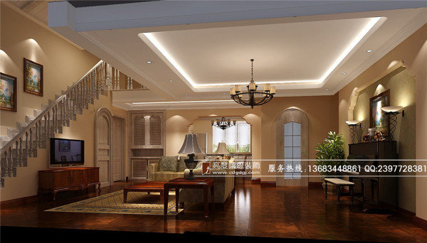 保利百合花园装修—成都高度国际—客厅装修细节效果