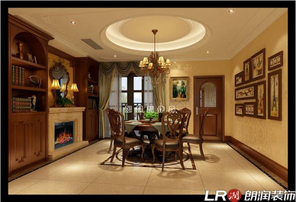 客餐厅整体做瓷砖的铺贴,还有个原因就是考虑自然采光的问题,业主喜欢更明亮一点的空间视觉感受。