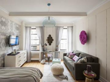 40平单身女性的简约活力公寓