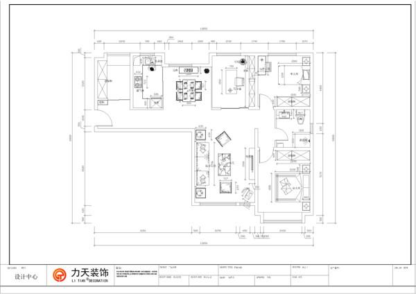 本次案例设计的是中铁滨海壹号户型面积118.00㎡整体户型较为规整,各个空间都比较方正,采光较好,面积较大因此各空间都有明显的功能分区。客厅区的采光较好,整体很方正。
