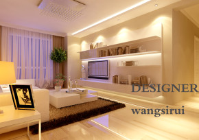 三居 样板间 现代 白领 小清新 客厅图片来自百家装饰杨乐乐在华润幸福里的分享