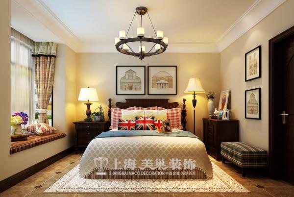 逸品香山89平两室两厅美式乡村装修效果图--卧室