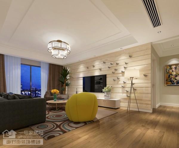 奥山世纪城108平户型客厅效果图