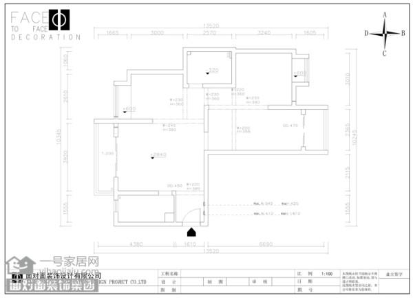 奥山世纪城108平户型框架图