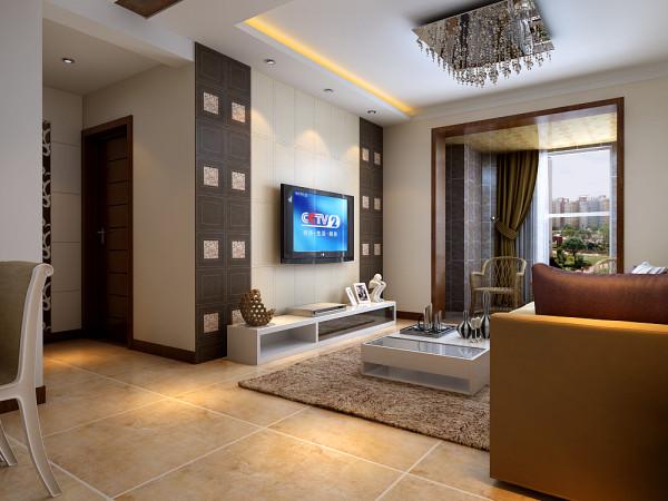 客厅电视墙做成对称的设计方案,在视觉效果中对称的图形能给人一种均衡的视觉享受。