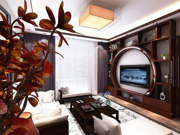 海河大观-128㎡-新中式风格