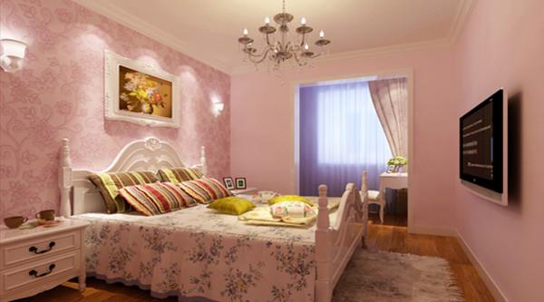 卧室为粉色等暖色调为主。设计充满祥和与生机,让人心旷神怡、沉醉其中。
