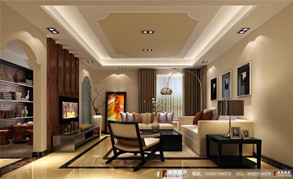 英郡装修客厅细节效果图---成都高度国际装饰