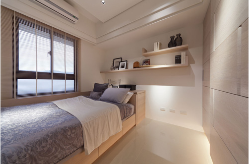 男孩房 因男孩在国外求学,留白的空间设计可弹性做为客房使用。