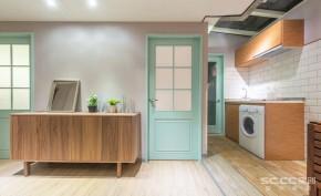 二居 北欧 宜家 69平 旧房改造 厨房图片来自实创装饰晶晶在闵行69平老房换新装2居北欧宜家的分享