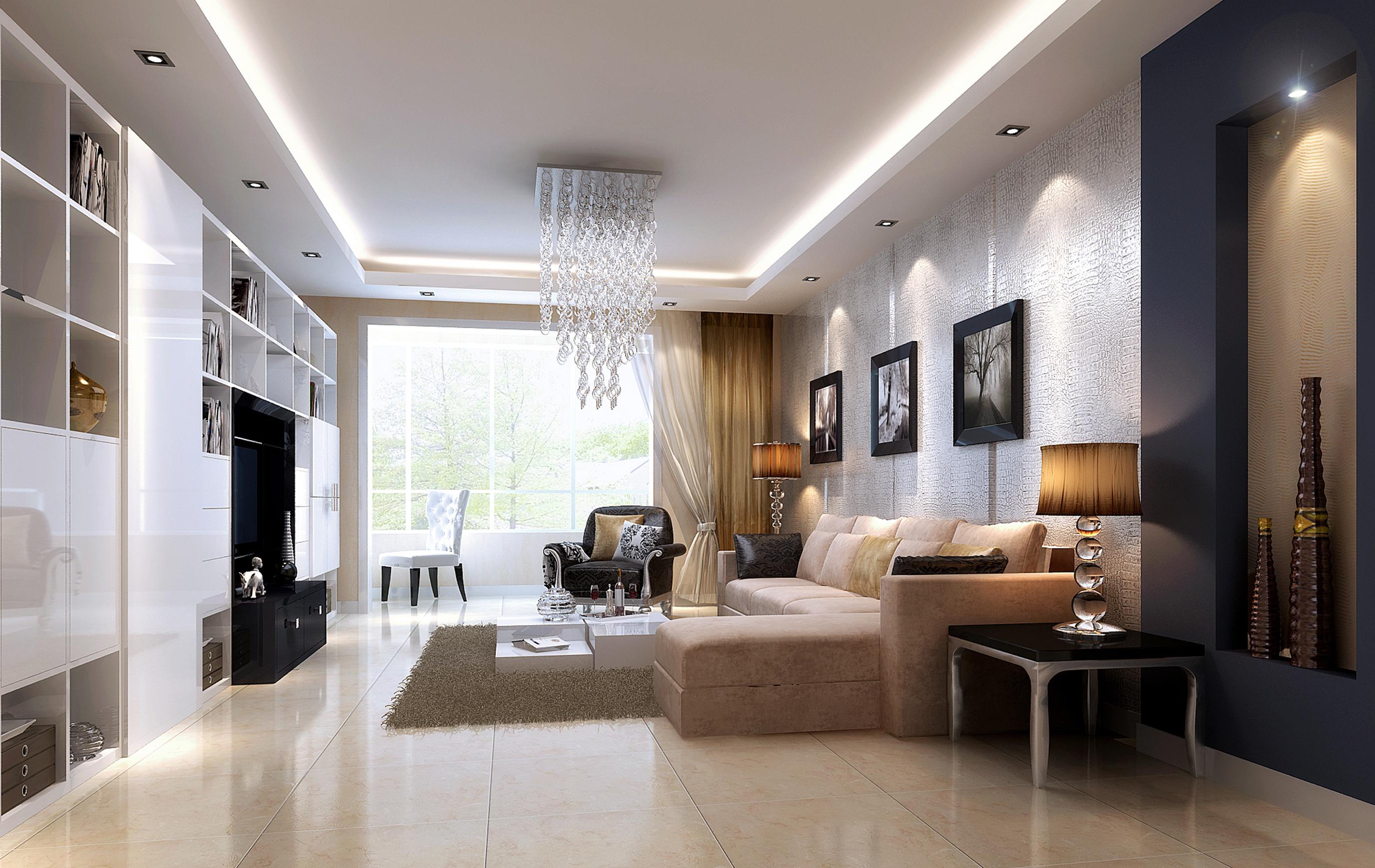 简约二居客厅装修效果图片_装修美图-新浪装修家居网