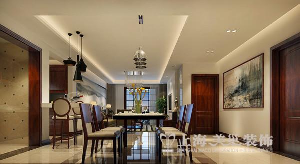 永威翡翠城4室2厅新中式风格装修方案餐厅装修效果图---1-5-2-9-4-8-7-7-2-3-2