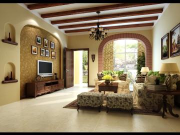 160平联排别墅美式乡村风格