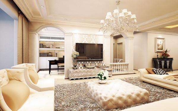 """本案为南京中惠置业的""""顶级豪宅"""",该套案例在室内设计上将简欧风格的实用性及装饰性与外部法式建筑风格巧妙相融,将 """"自然主义园林景观理念""""这一楼盘亮点表达得淋漓尽致。"""